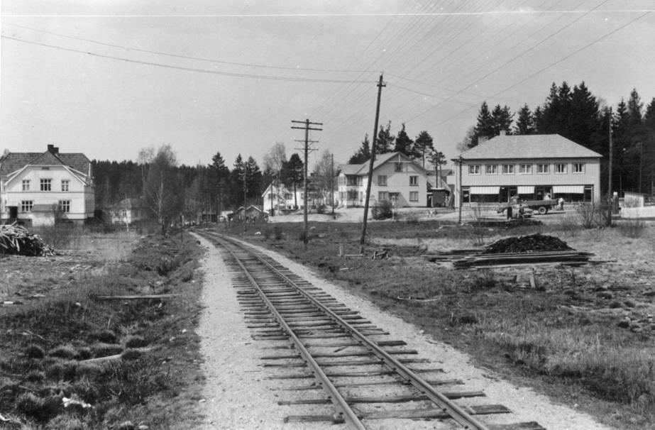 I nærheten av Aurskog stasjon.