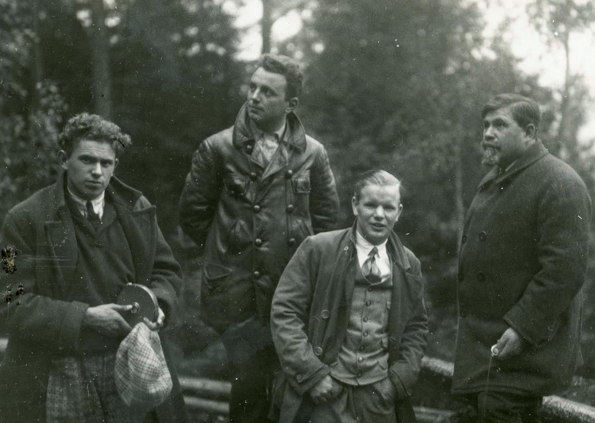 Athlete Sigmund Ruud with friends somewhere in Europe