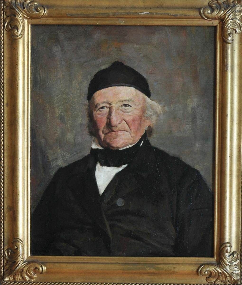 Manns portrett i rektanguler råme