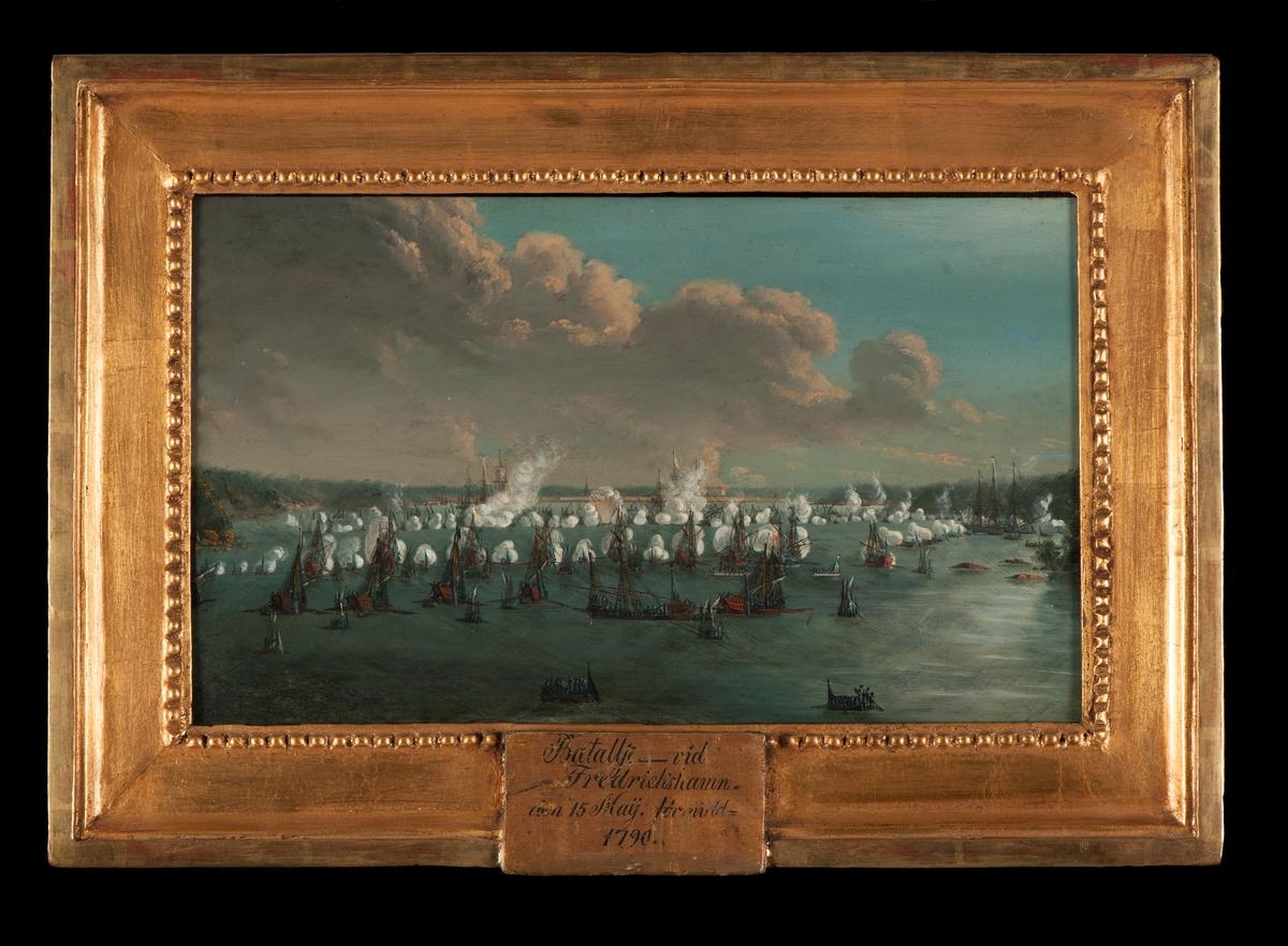 """""""Batalljé vid Fredrickshamn den 15 maij förmidd. 1790""""."""
