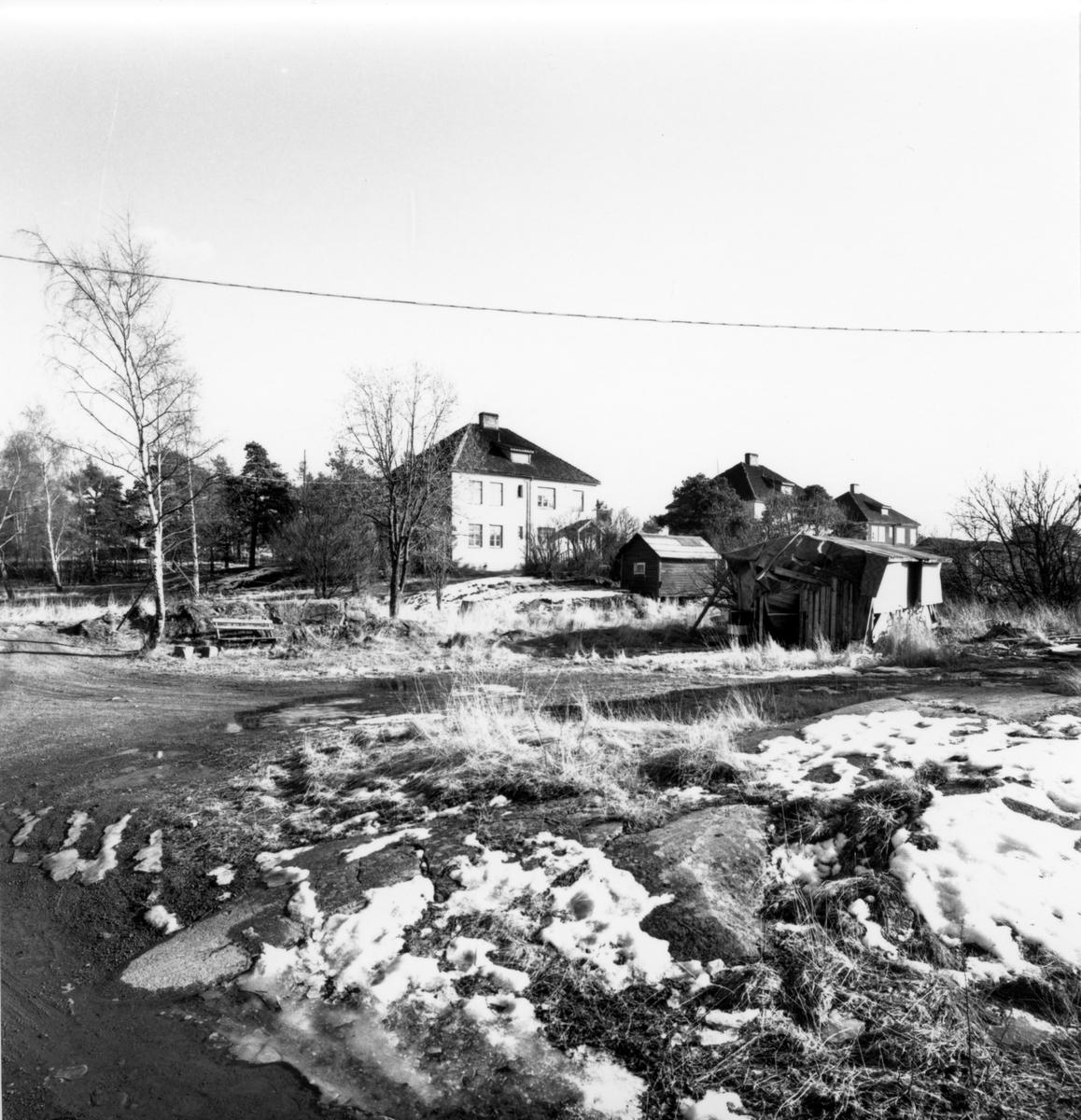 Orrholmens sågverk: Arbetarebostäder.