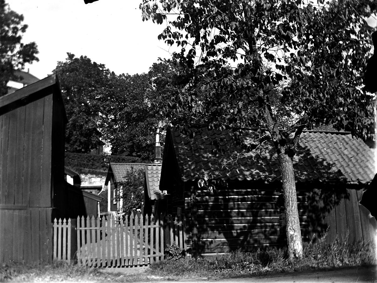 Syskonen Haglunds gård vid Ekens stallar. Fotograf okänd.
