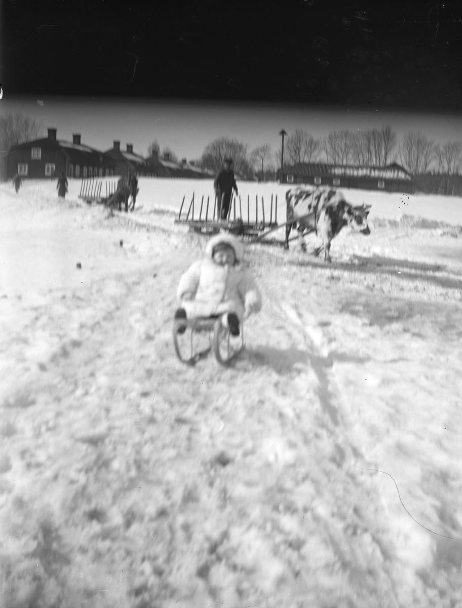 Vinter på Bruket. Tidsomfånget är 1900 - 1940