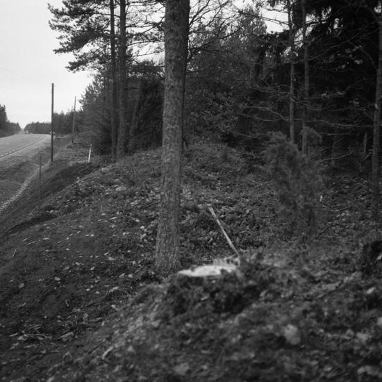 Hamnatorp 3:4, Gravfält RAÄ 47:1. Grav 112 från S efter släntring. 1959.11.