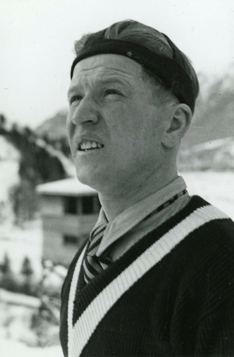 Olympic champion Birger Ruud at Garmisch