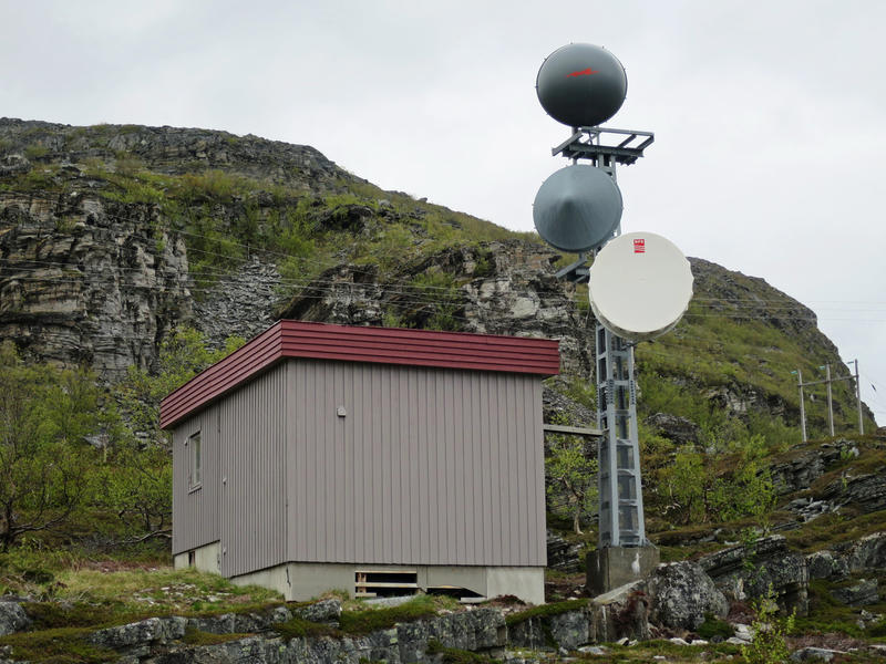 Telefonsentraler. Litlefjord automatkiosk eksteriør 2