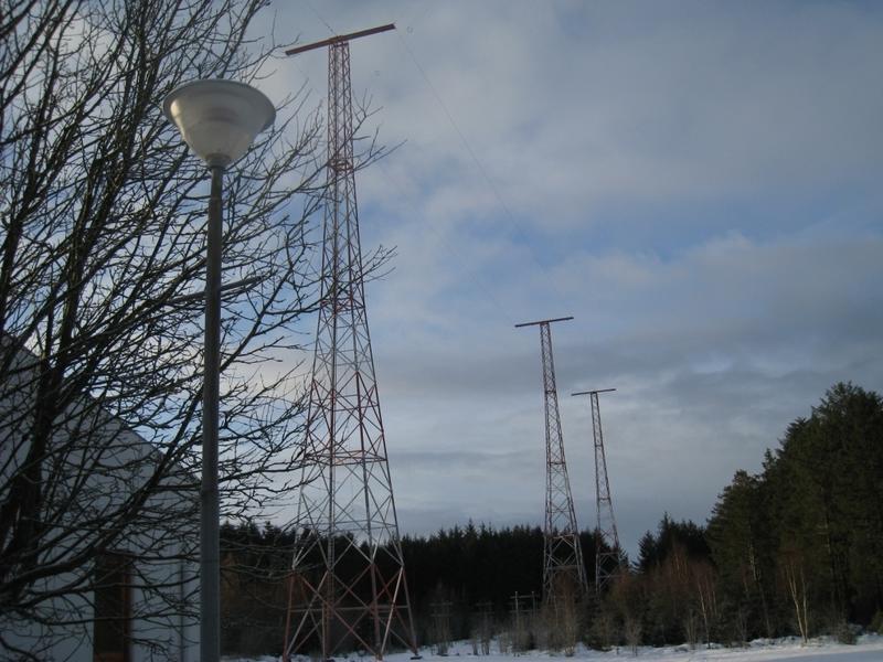 Master og antenner. Vigreskogen, Rogaland radio senderstasjon