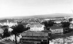 Bollnäs år 1875. Gammalt fotografi som avfotograferats av br