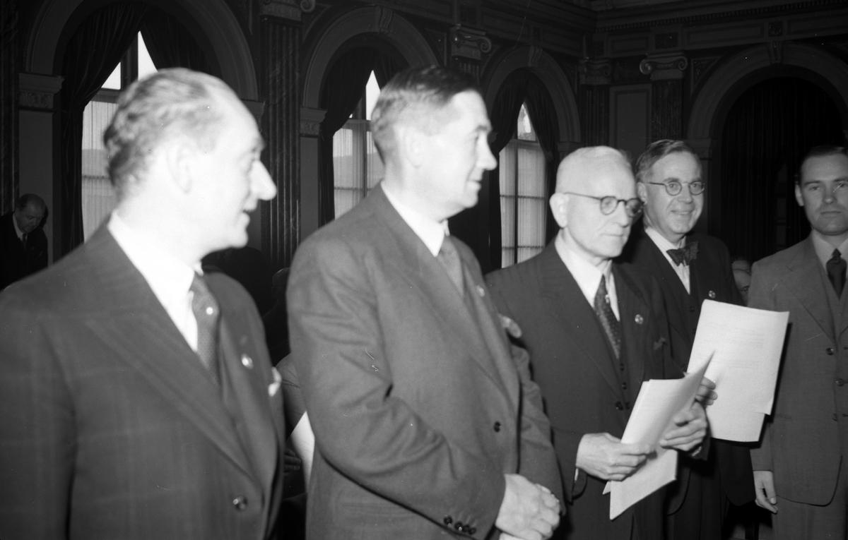 Fastighetsägarnas kongress på stadshuset 20 september 1946.