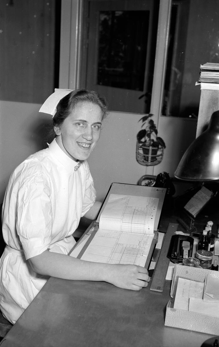 Lasarettet, barnsjukhuset sköterskor. 1952.