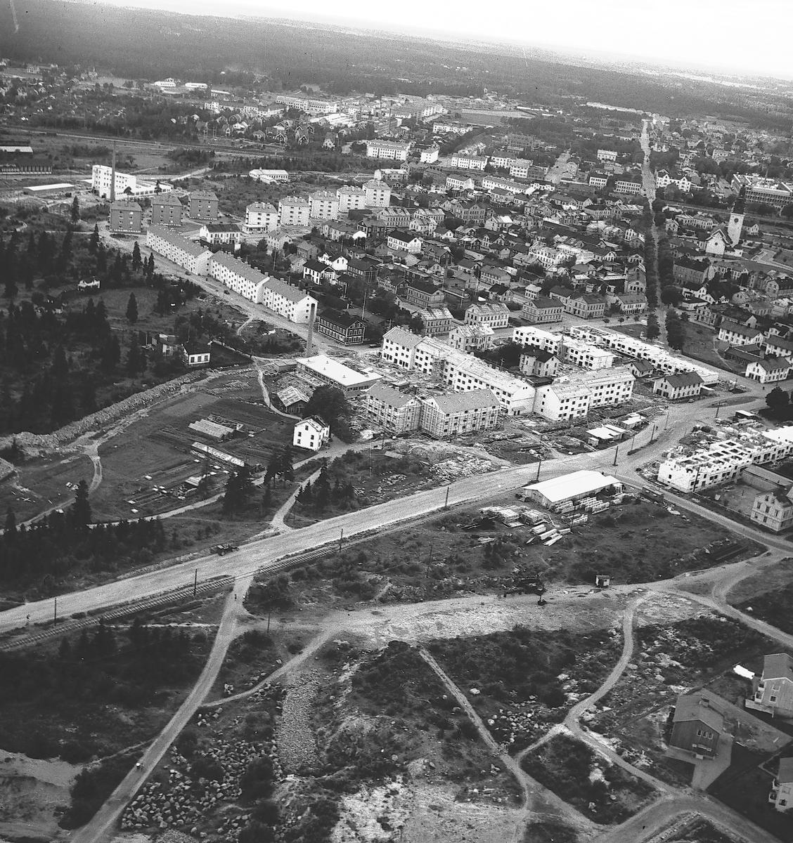 Flygbild över Brynäs. År 1940.