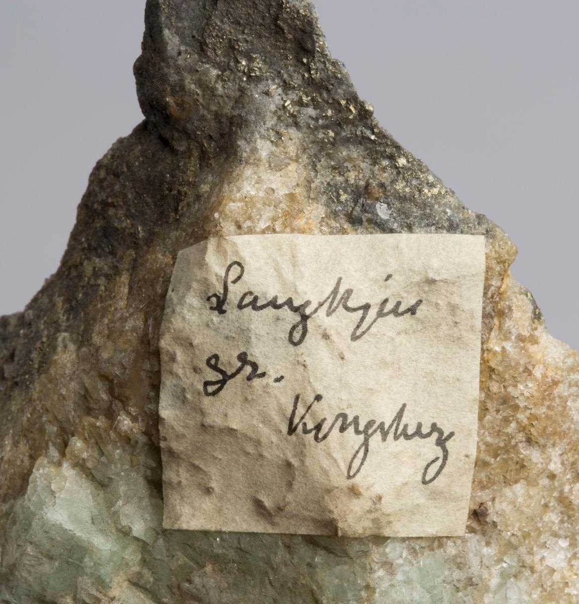 Etikett på prøve: Langkjern gr. Kongsberg