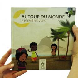 Bok med DVD, inneholder en visuell framstilling av ulike kulturer i verden. Uten tale og tegnspråk. kr: 300,- (Foto/Photo)
