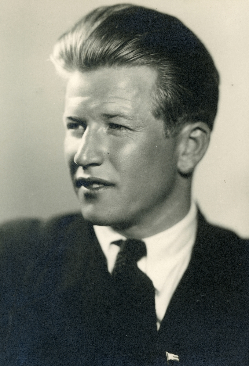 Portrait of athlete Birger Ruud