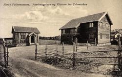 Postkort. Akerhaugstuen og Ylistuen fra Telemark. Telemarkst