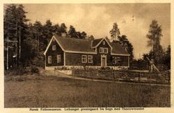 Postkort. Leikanger prestegård fra Sogn med Thaulowmuseet.
