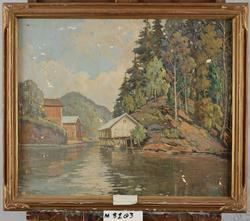 Boathouse, Mirror Lake [Oljemålning]