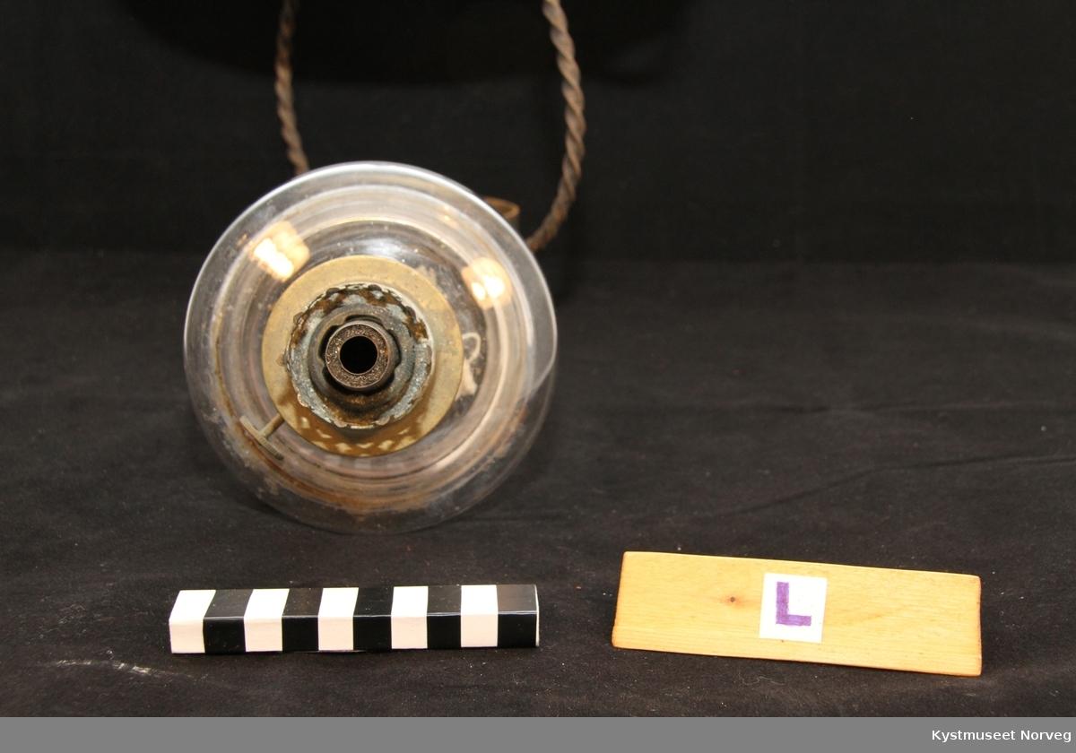 Parafinlampe med holder