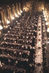 Nobelfesten, Gyllene salen, dukade bord , 1974.