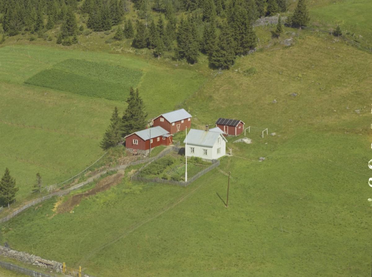 Øverjordet, småbruk, hage, flaggstang, Svatsum, Gausdal