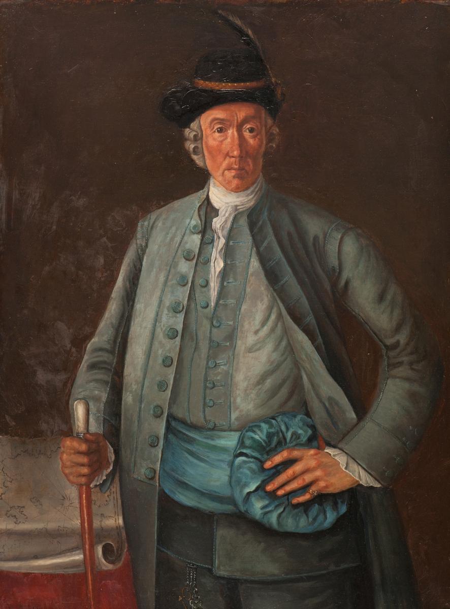 Föreställande Johan Acrell (1715-1790), vår främste och mest anlitade galärbyggmästare
