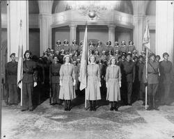Lottakåren i garnisonskyrkan år 1940.