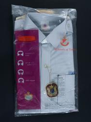 Skjorta, grå, uniform, Linjeflyg, nyförvärv fotograferad inn