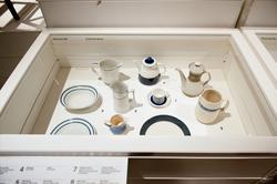 Ränder utställningsdokumentation, Nya galleriet- monterinneh