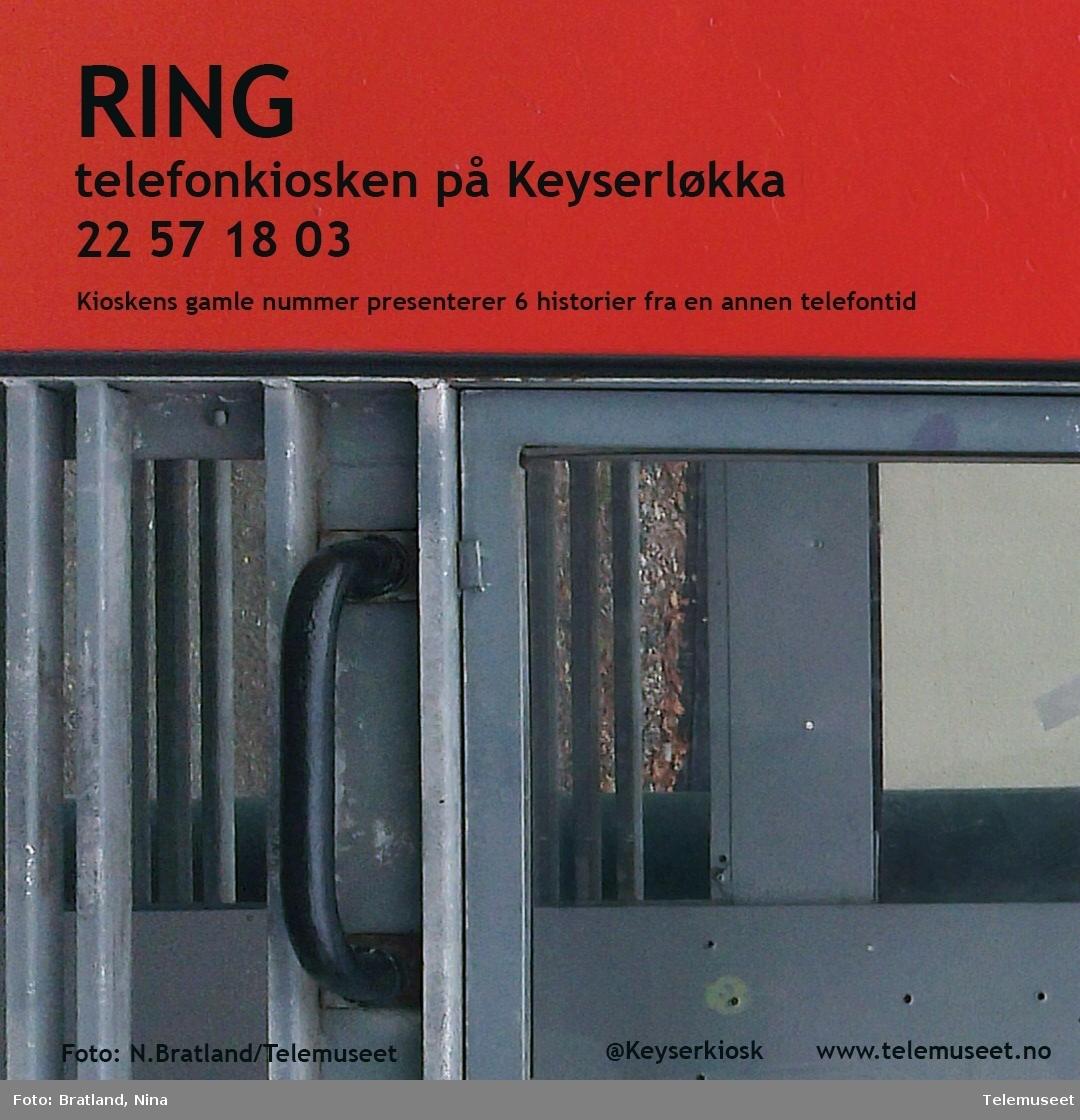 Informasjon om Keyserkiosk Telefonkiosk Einars vei Oslo som fikk nytt innhold