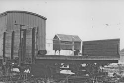 Museumsbanen Urskog-Hølandsbanens godsvogn K 19 på Sørumsand