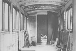 Interiørbilde av museumsbanen Urskog-Hølandsbanens personvog