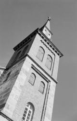 Utsjok Kirketårn. Utsjok-tur, Finland. Fotografert i august
