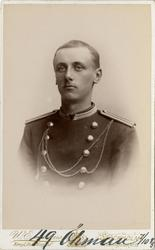 Porträtt av Olof Robert Öhman, underlöjtnant vid Västerbotte