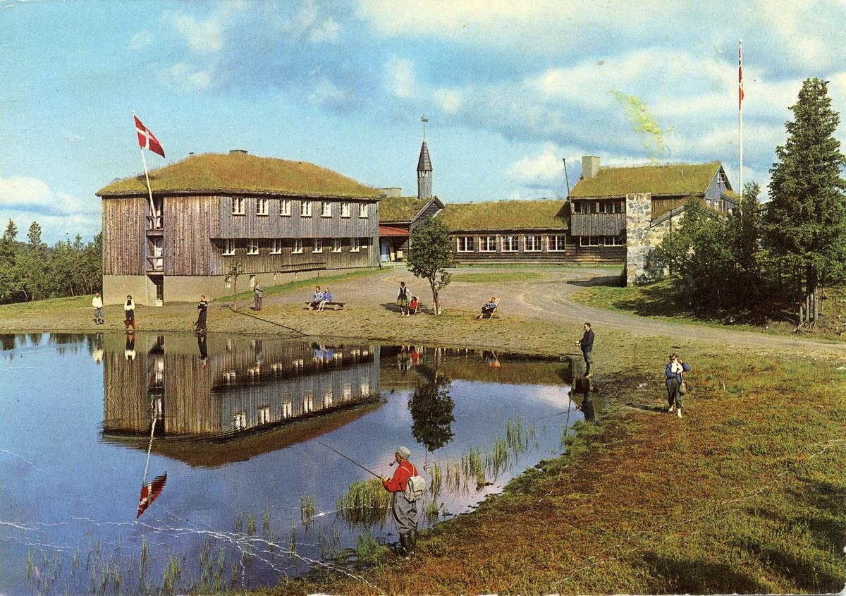 Postkort i farger med motiv av Danebu, Nord-Aurdal i Valdres.
