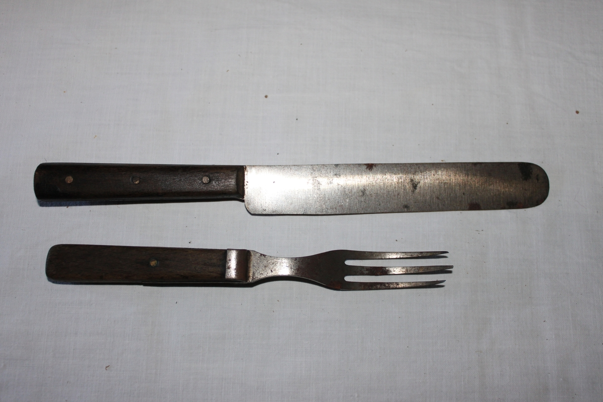Kniv med träskaft