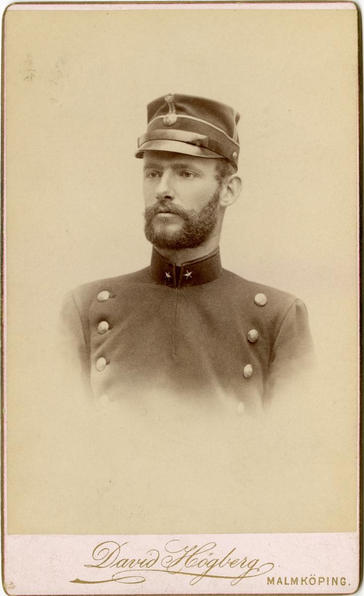 Porträtt av okänd underlöjtnant.