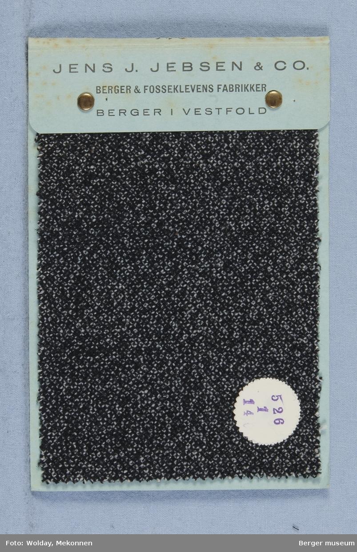 Prøvebok med 1 prøver Frakkestoff Melert Kvalitet 526