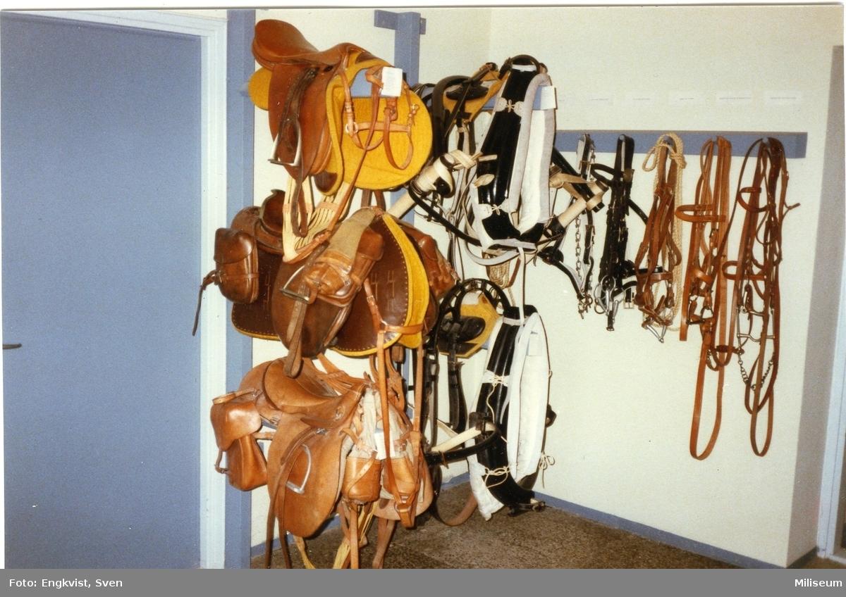 Artillerimuséet, finska. Sadlar, hästmateriel.