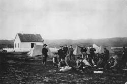Fra grenseoppgangen 1896. Den norske og russiske grensekommi