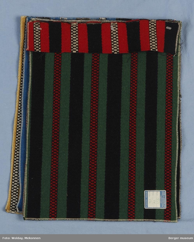 Møbelstoff 6 prøver Striper