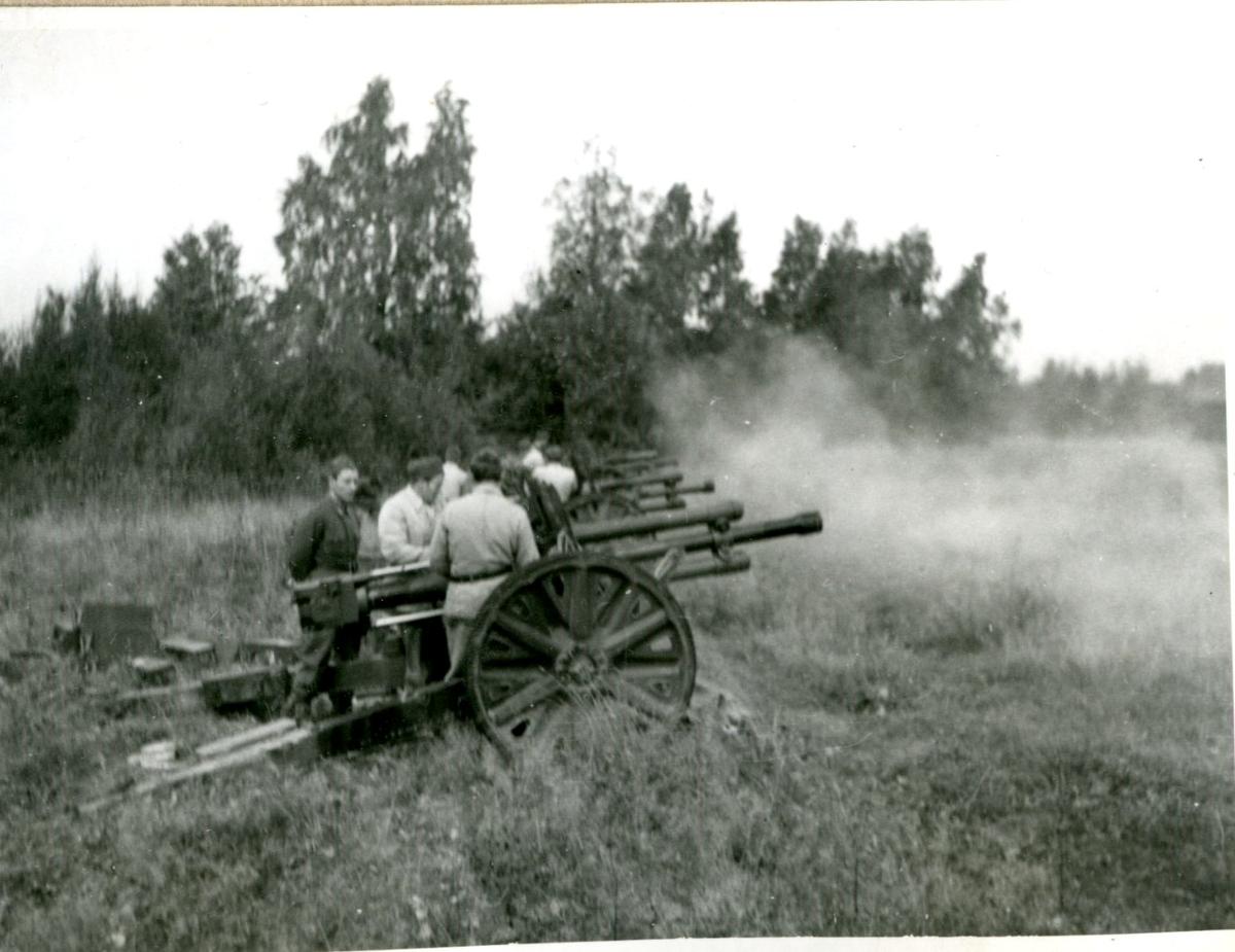 Kanon m/1940, 7,5 cm. Villingsberg, Närke.