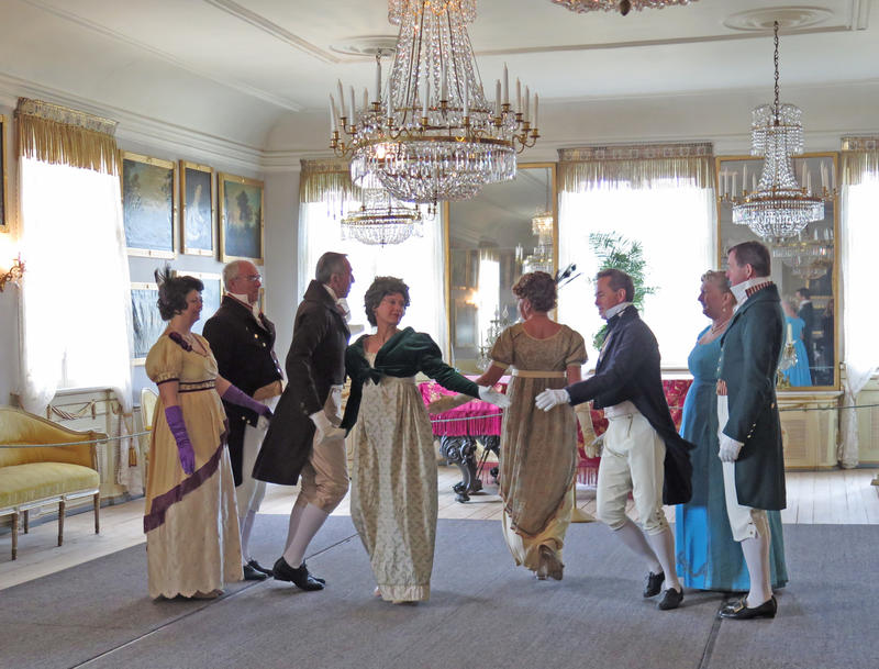 Historisk dans på Bogstad Gård. Foto: Hilde Løwe