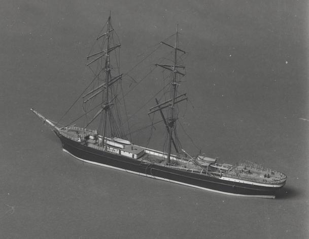 Vattenlinjemodell av fartyg.