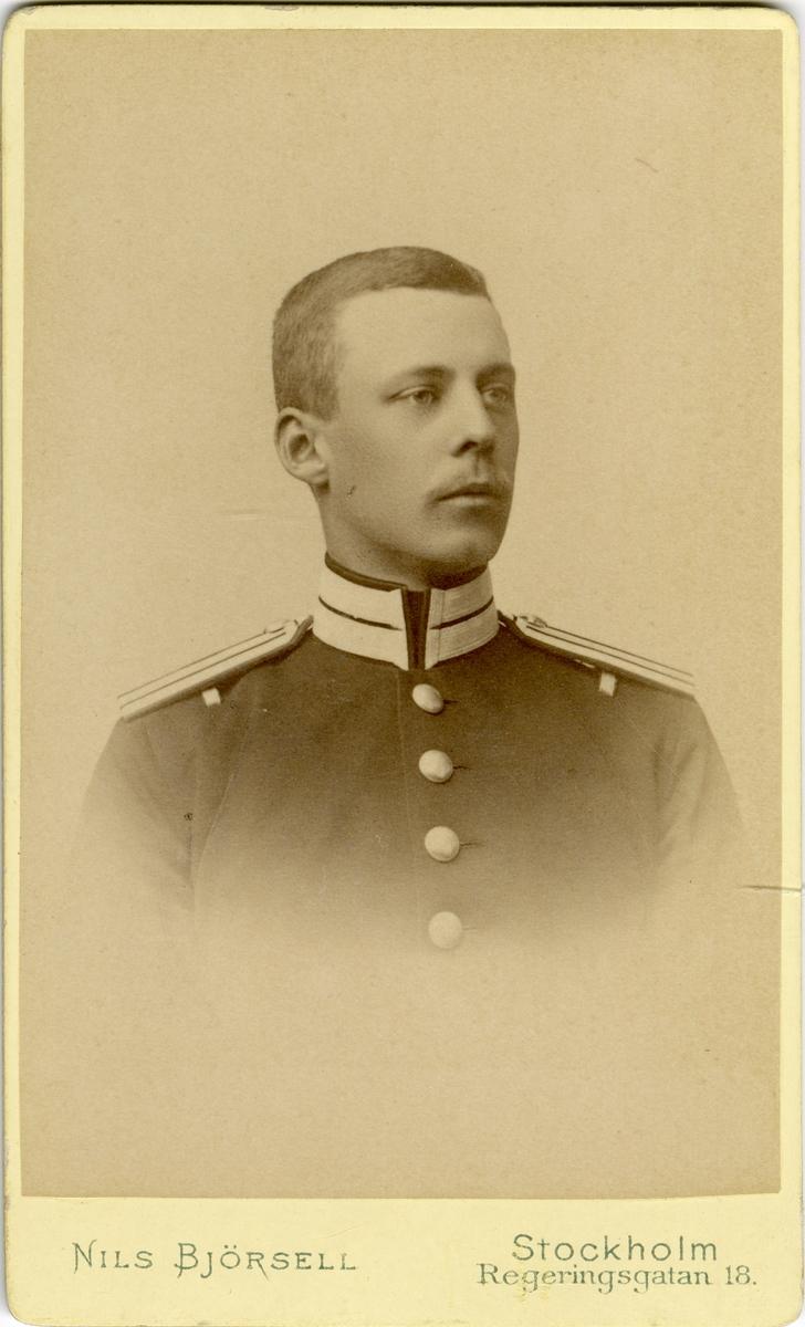 Porträtt av okänd soldat vid Livgarde.