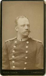 Porträtt av okänd löjtnant vid Livgarde.