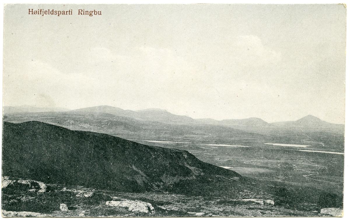 Postkort med fjellmotiv. Ringebu.