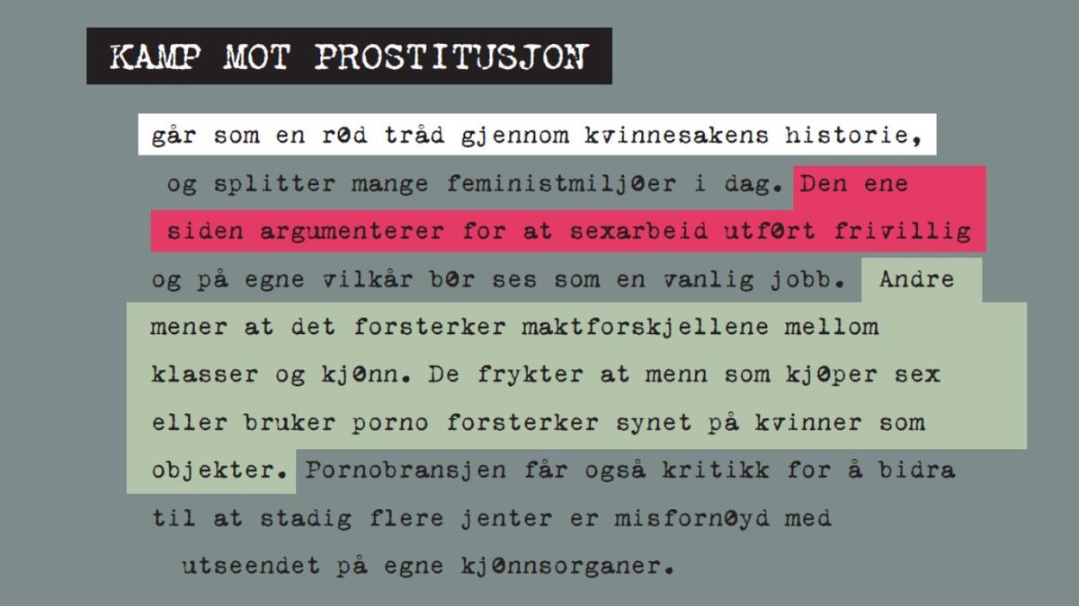 Lysbilde - prostitusjon (Foto/Photo)