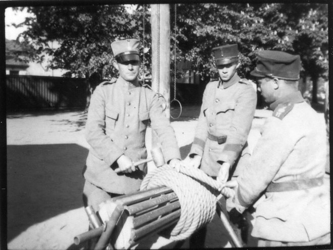 Kulballong m/1930, släplinan.