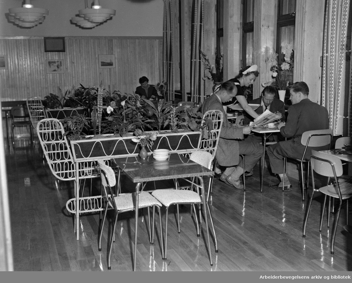 Folkets Hus kafé, september 1958