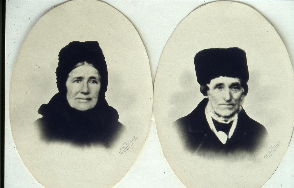 Beret Olsdatter Listrudbakken og Erik Thorsrud, ca 1870.